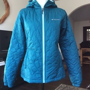 Columbia teal jacket M